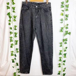 SHEIN Acid-wash Highwaisted Tapered Leg Mom Jeans